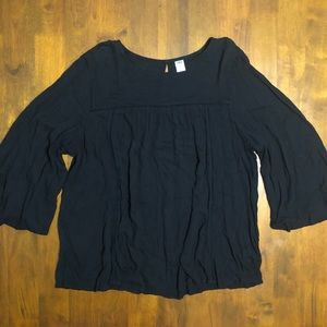 Old Navy Black Flowy Top